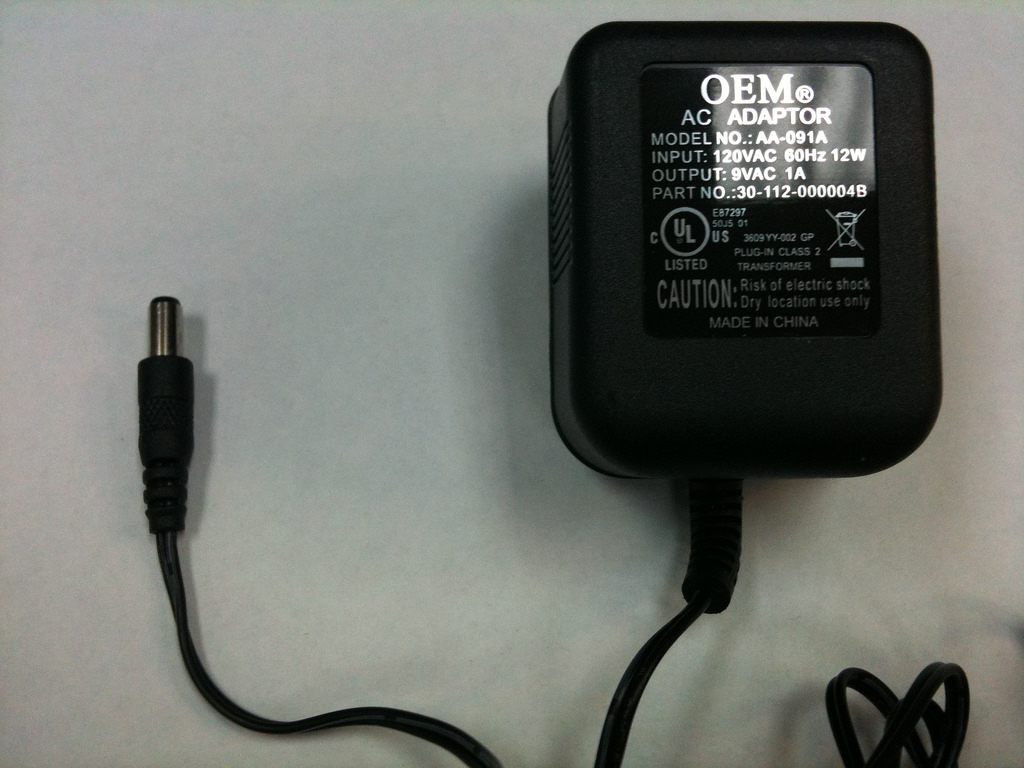 an AC adapter (or wall wart)